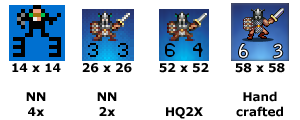 Human heavy infantry graphic tile evolution